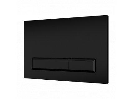 Dvojčinné splachovací tlačítko do rámu SLR 21, černé