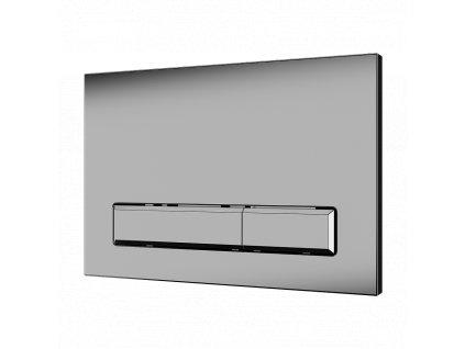 Dvojčinné splachovací tlačítko do rámu SLR 21, matný chrom