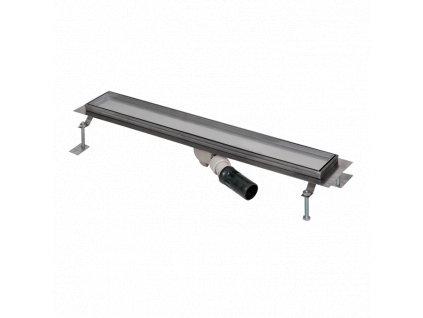 Nerezový koupelnový žlábek pro dlažbu do prostoru, délka 750 mm