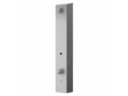 Nerezový sprchový nástěnný žetonový panel pro dvě vody, regulace směšovací baterií, 24 V DC