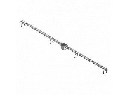 Nerezový štěrbinový žlábek pro koupaliště, délka 2 m, AISI - 316L