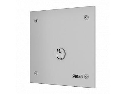 Piezo splachovač WC na tlakovou vodu se speciálním antivandalovým krytem, 24 V DC