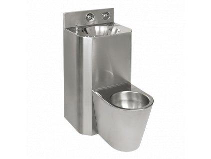 WC s umyvadlem rovný, WC na zemi, závitové tyče