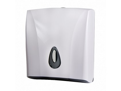 Zásobník na skládané papírové ručníky, materiál bílý plast ABS