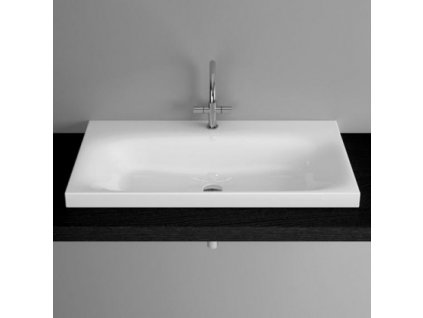 Bete BETTELUX - umyvadlo na desku smalt, 100x47,5 m, s otvorem, bílé - A165-000HLW1