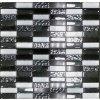 STONEGLASS BLACK/WHITE 30x30 MOZAIKA - MOSBLWH