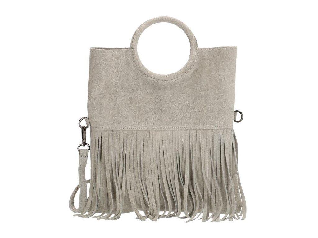 Dámska kožená kabelka Charm London Elisa -  sivá