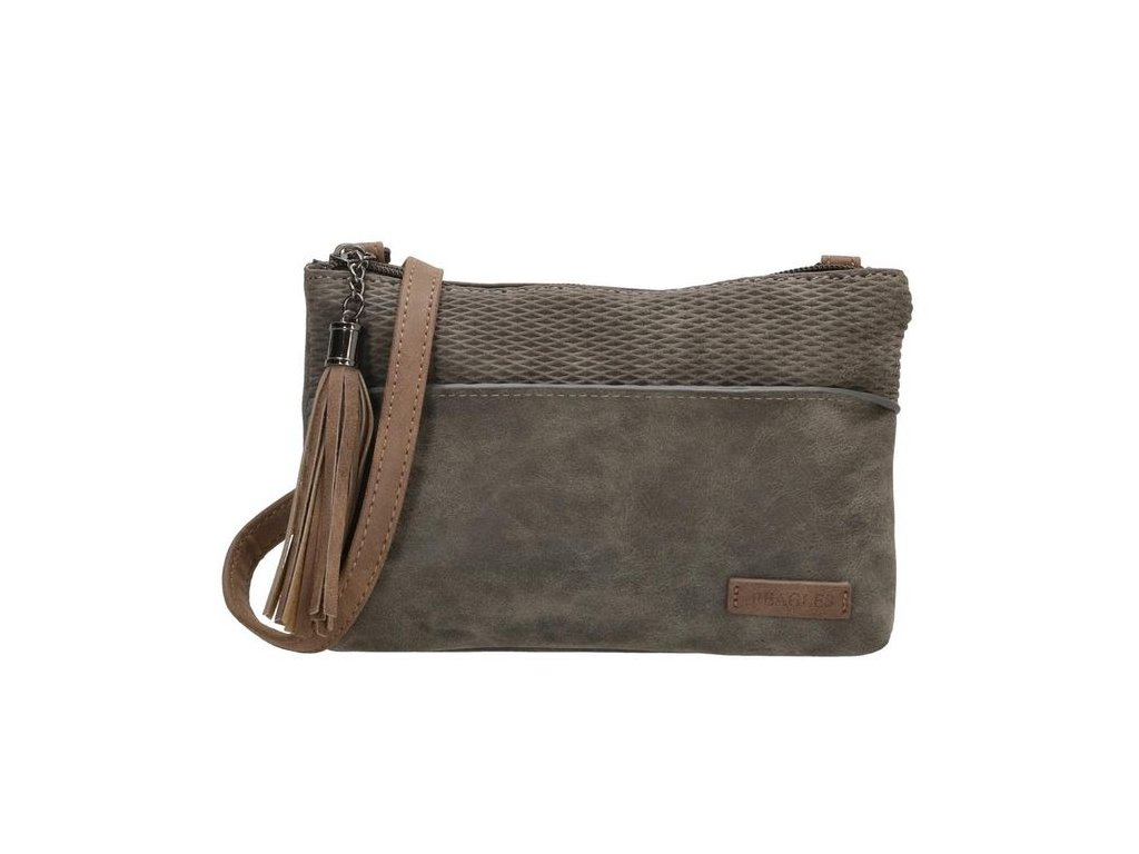 Minikabelka crossbody so strapcom Beagles brunete - sivá
