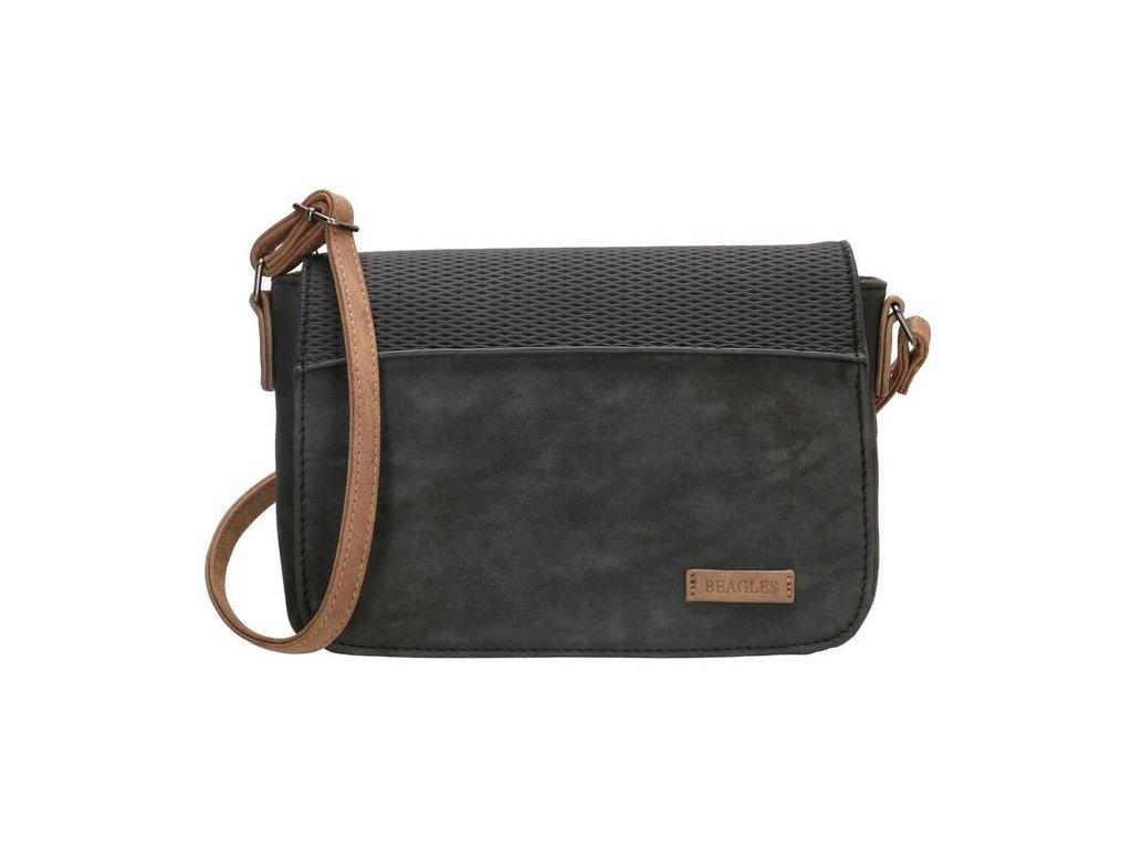 Malá kabelka crossbody Beagles brunete - čierna