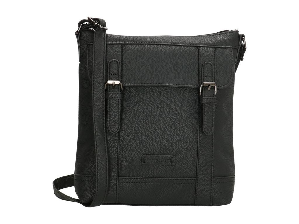 Crossbody štýlová kabelka Enrico Benetti Jade double - čierna
