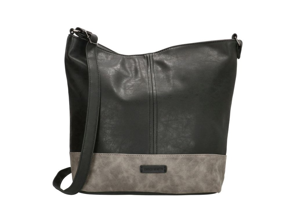 Dámska crossbody taška na rameno Enrico Benetti Eloise - čierno-sivá