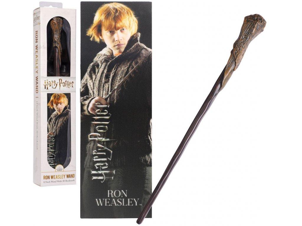 Originálny kúzelnícky prútik Ron Weasley 30 cm + 3D záložka