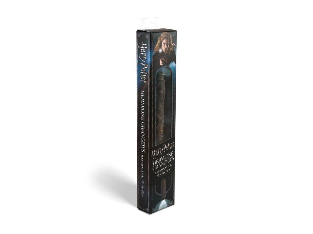 Hermiona Grangerová svietiaci kúzelnícky prútik a pero - Harry Potter