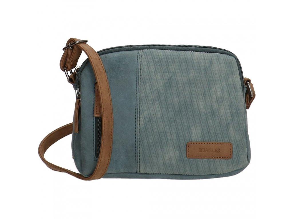 Mini kabelka crossbody Beagles brunete - riflová modrá