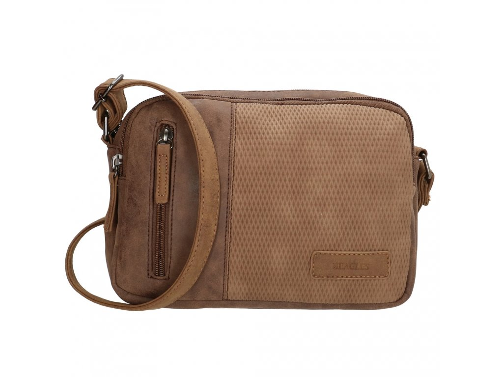Mini kabelka crossbody Beagles brunete - hnedá