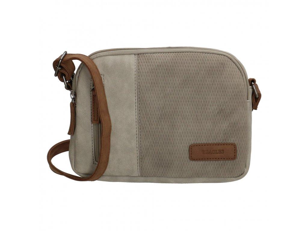Mini kabelka crossbody Beagles brunete - sivá