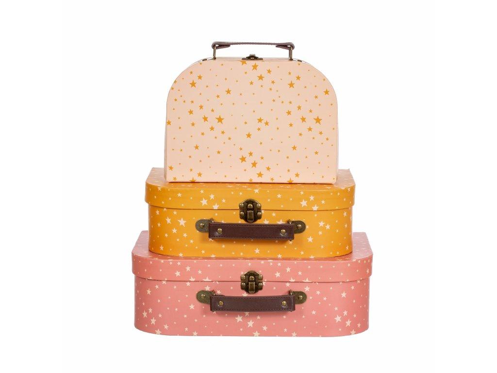 Kartónový kufrík hviezdičky
