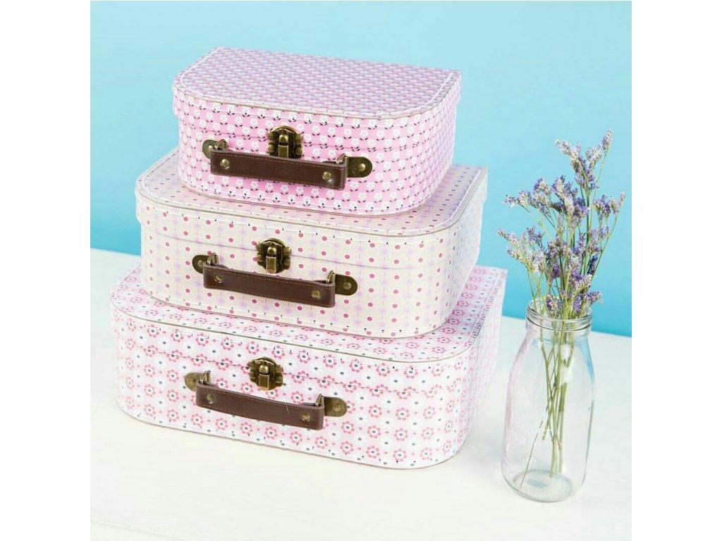 Kartónový kufrík pink