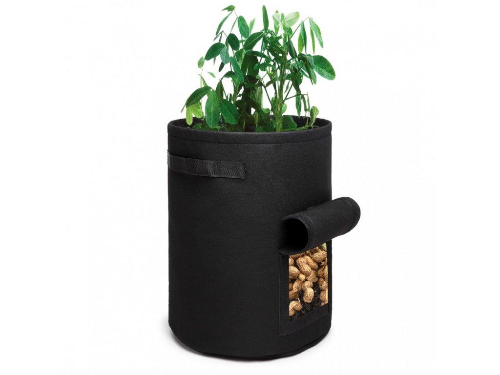 KONO 38L filcová nádoba na pestovanie zeleniny - čierna