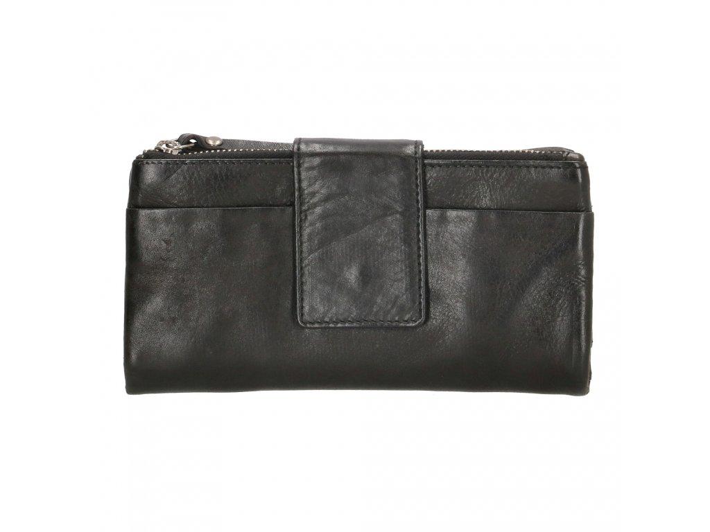 Kožená peňaženka Amstel Genicci Rivers - čierna