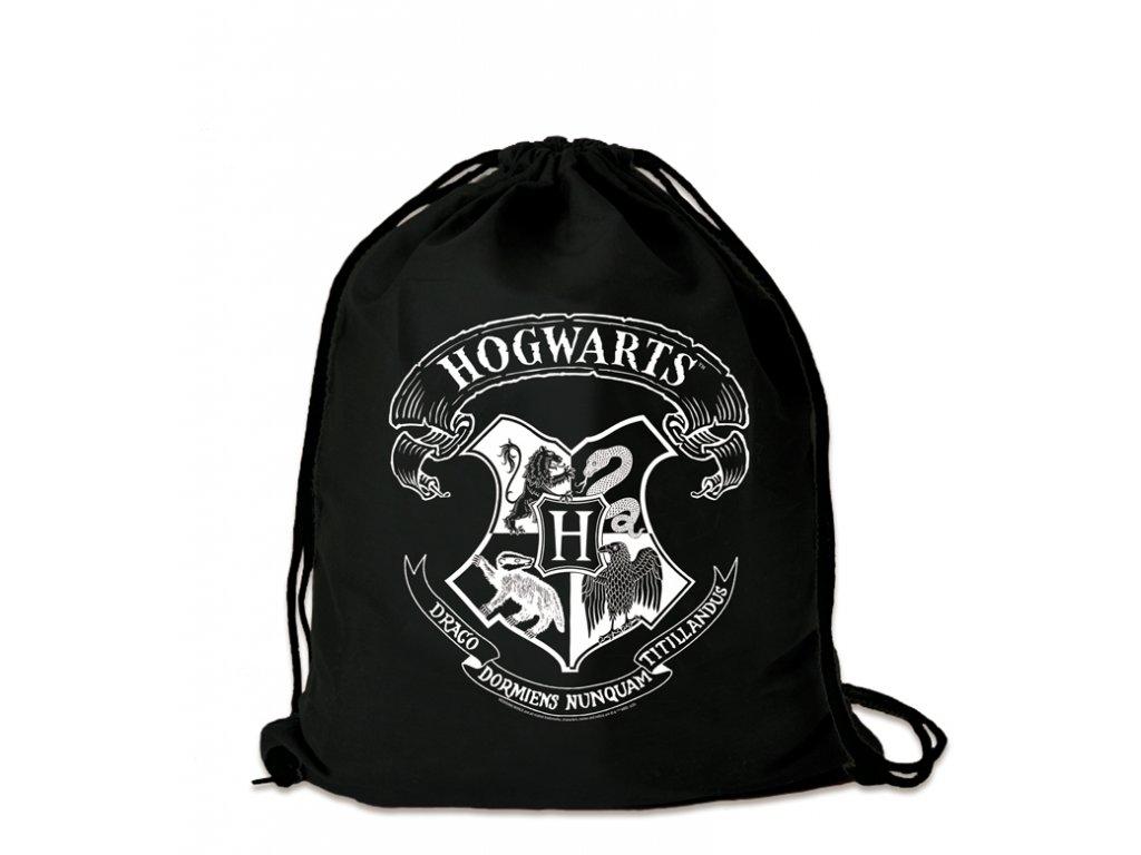 Harry Potter športový vak Rokfort - Hogwarts - biela potlač