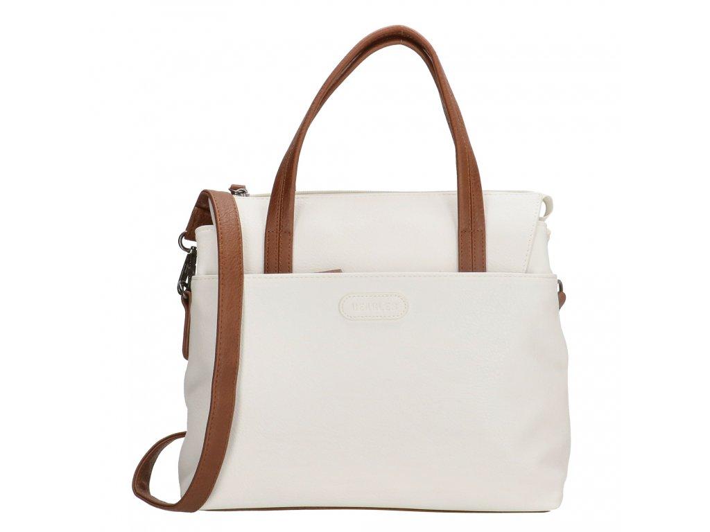 Dámska elegantná kabelka Beagles Xornes - biela