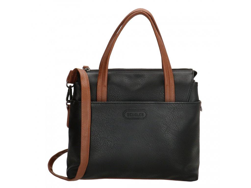 Dámska elegantná kabelka Beagles Xornes - čierna