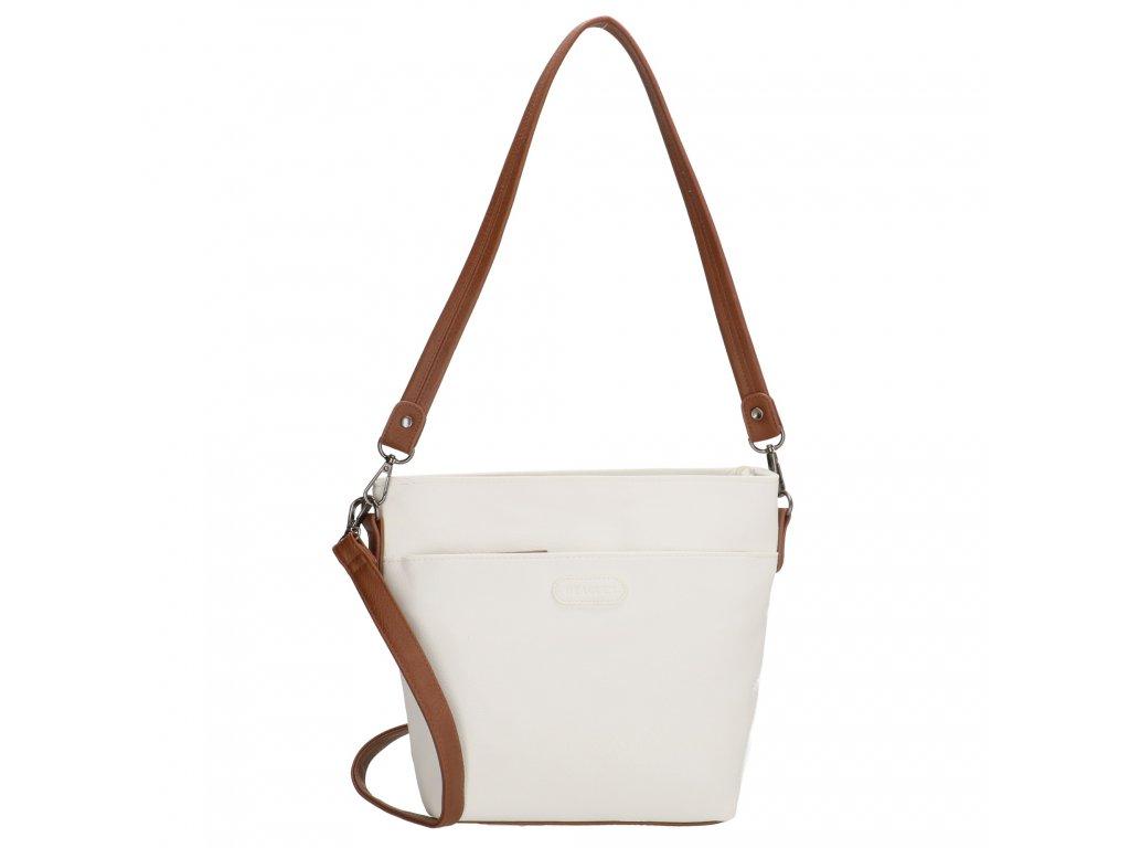 Elegantná dámska crossbody kabelka Beagles Xornes - biela