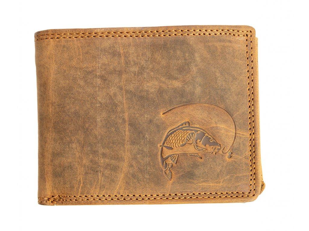 Luxusná kožená peňaženka s kaprom