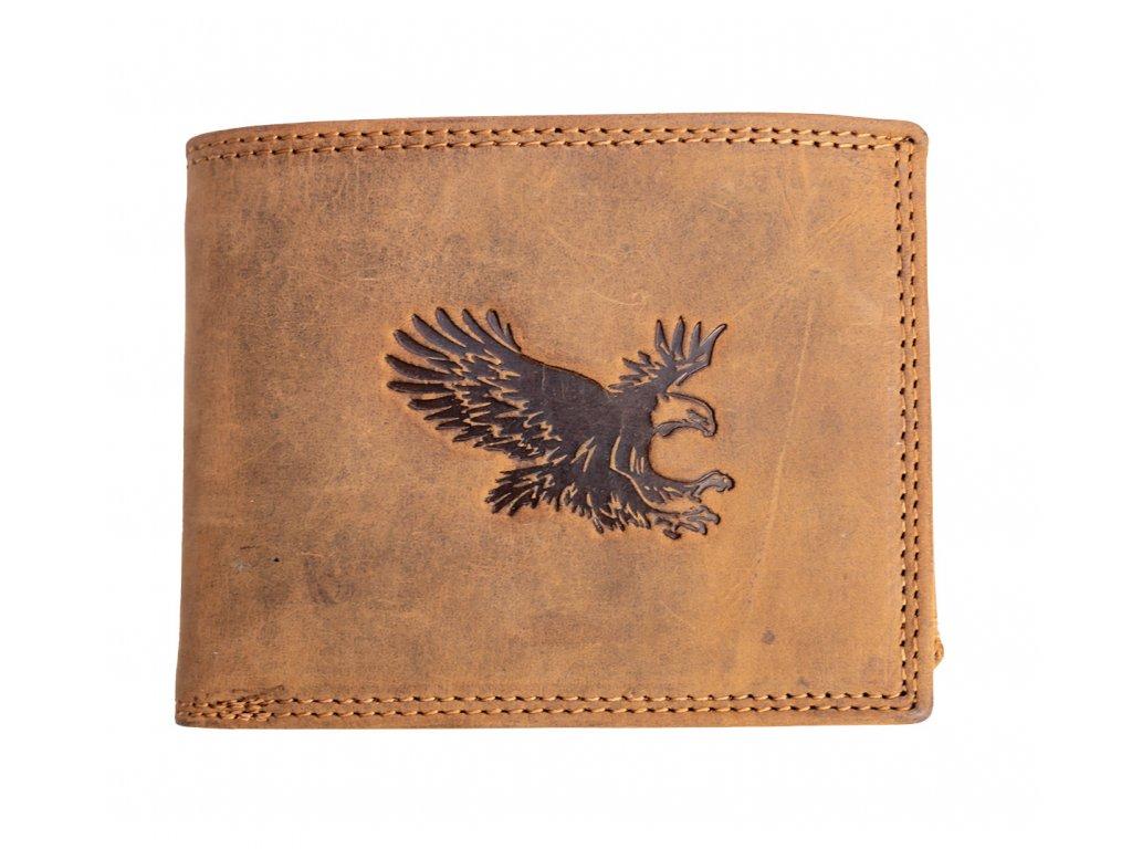 Luxusná kožená peňaženka s orlom
