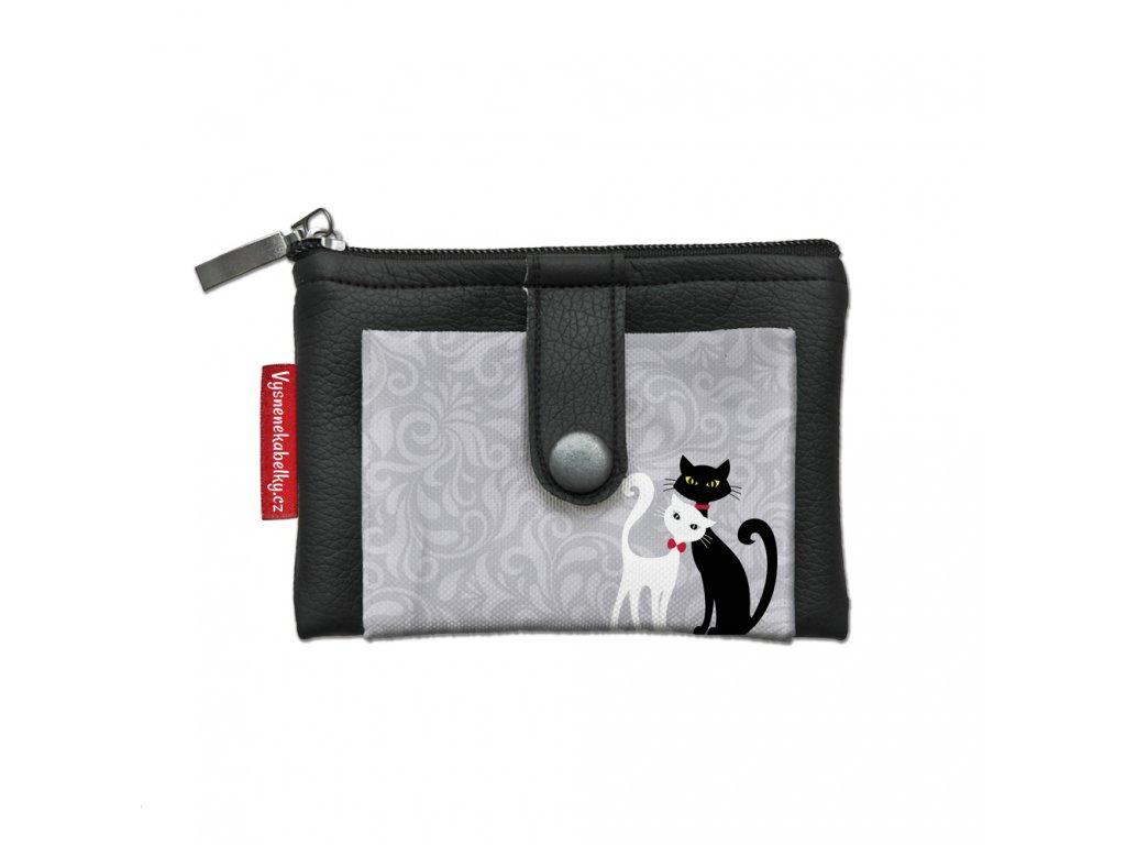 Dizajnová kľúčenka/peňaženka Black & White