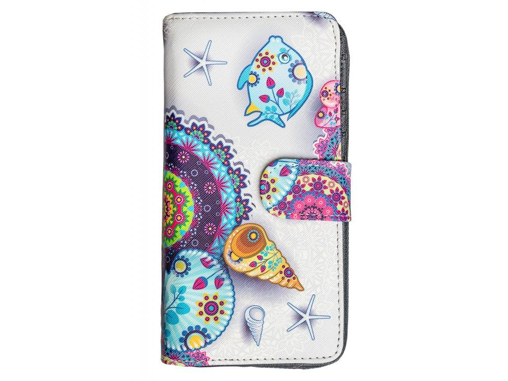 Dizajnová peňaženka Floral Mood Sea
