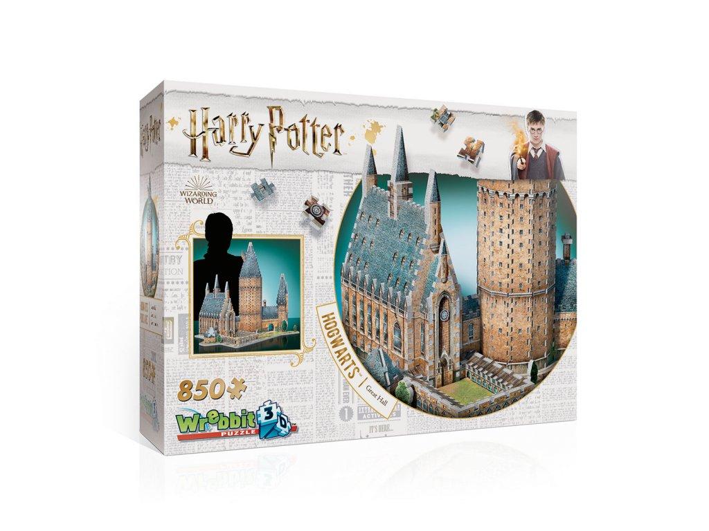 Harry Potter 3D Puzzle: Rokfort - Veľká sieň, 850 dielikov - 50cm