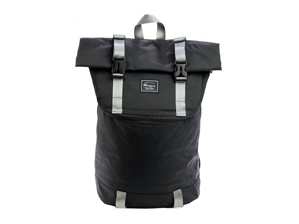 Mestský unisex batoh typu messenger Maiqiu Trade Mark - čierny