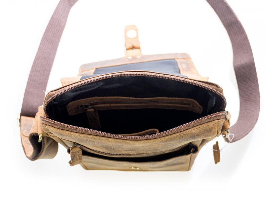 858fe6f2f8 Luxusná kožená pánska taška hnedá s prackou - Batoháreň.sk
