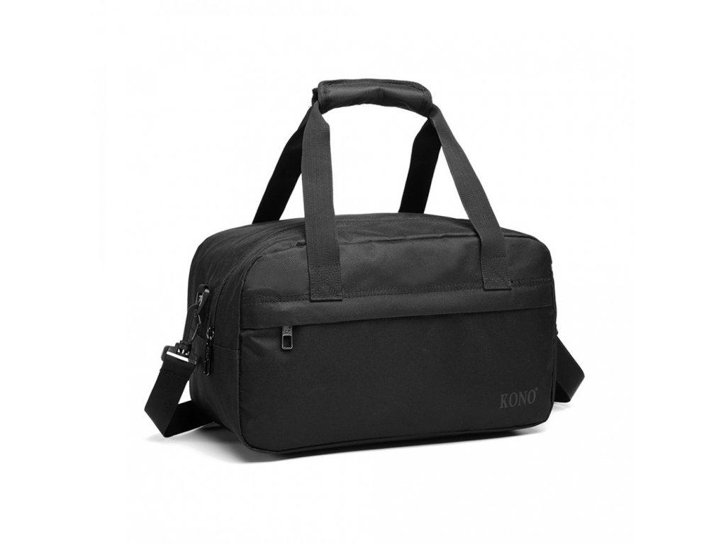 Malá multifunkčná pánska taška KONO Drill - čierna