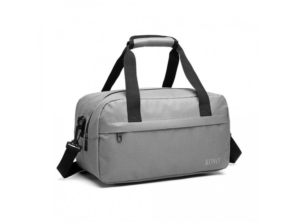 Malá multifunkčná pánska taška KONO Drill - sivá