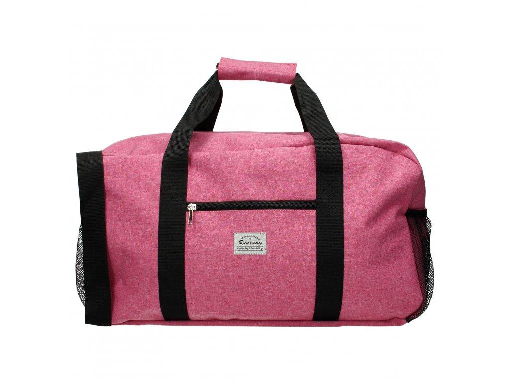 Cestovná taška Runaway basic travel - ružová