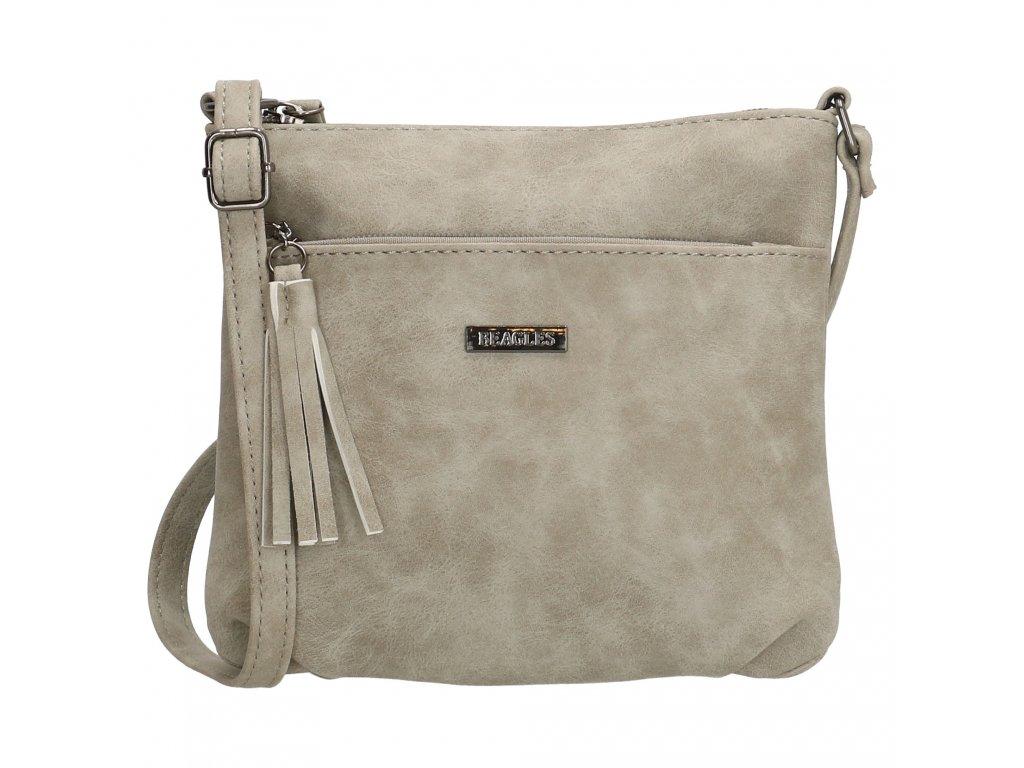 Dámska menšia crossbody taška Beagles La Costera - sivá