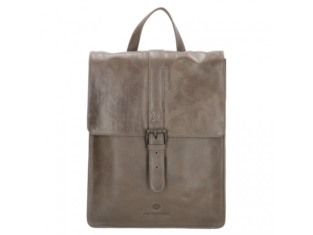Dámsky kožený batoh Micmacbags Porto - sivý