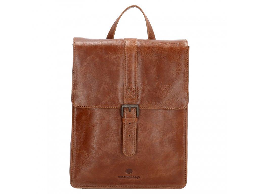 Dámsky kožený batoh Micmacbags Porto - hnedý