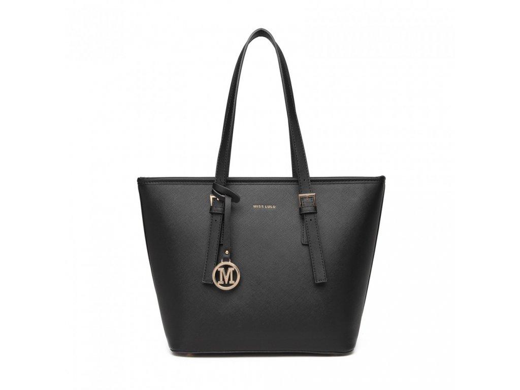 Dámska elegantná kabelka Miss Lulu Beatrice - čierna