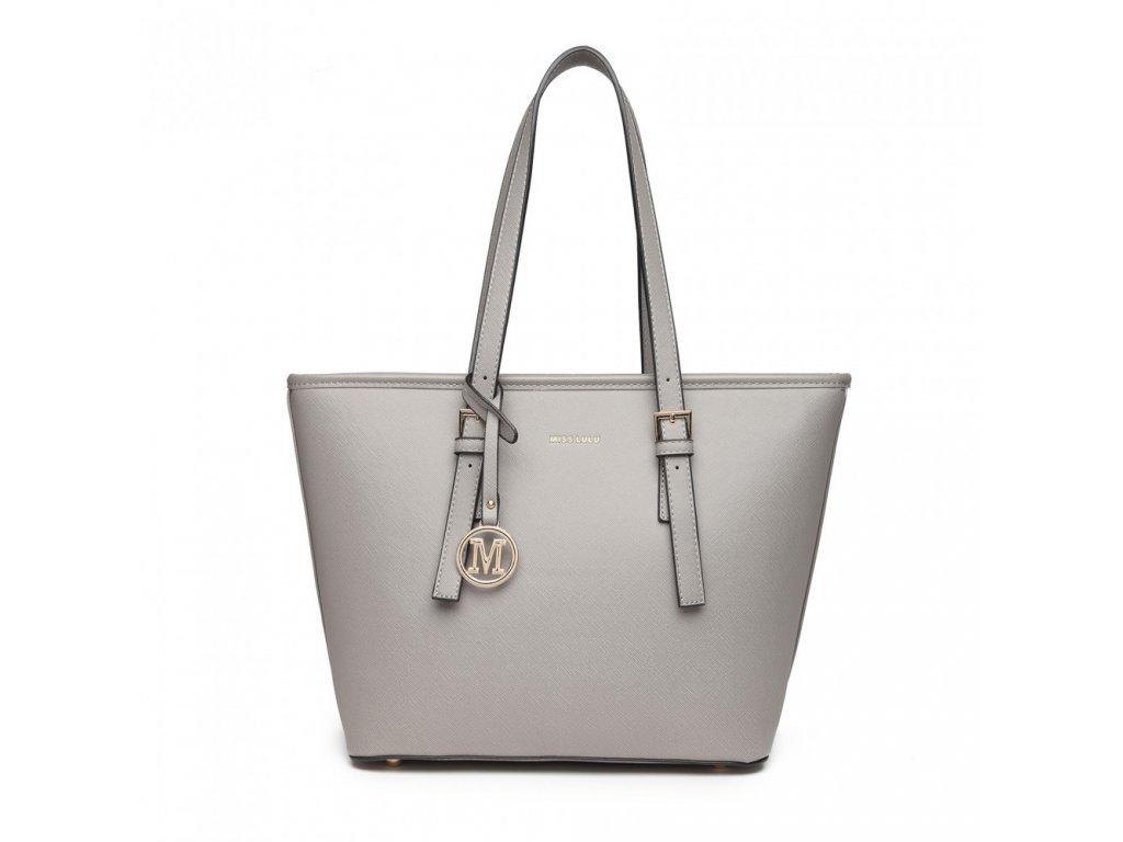 Dámska elegantná kabelka Miss Lulu Beatrice - sivá