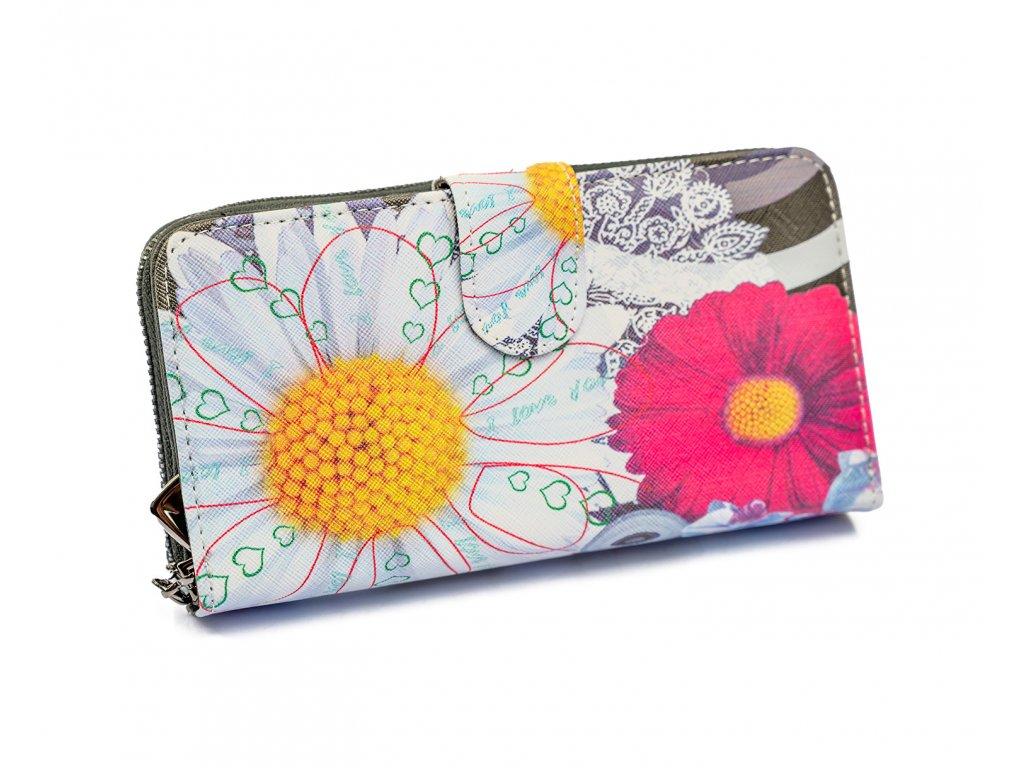 Dizajnová peňaženka Floral Mood Margarétka