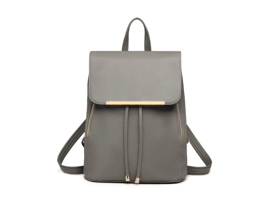 Elegantný dámsky ruksak - Sivý