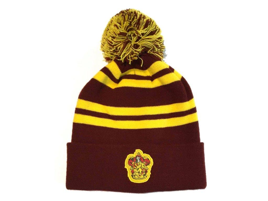 Detská zimná čiapka s brmbolcom Harry Potter Chrabromil