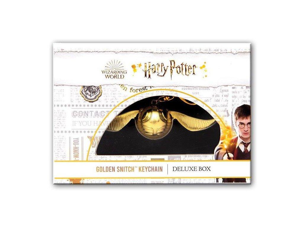 Kľúčenka Harry Potter zlatá strela v darčekovej krabičke