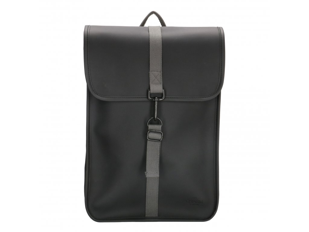 "Moderný batoh unisex Charm London Neville - 17,3 ""(43 cm) / 12L - čierny"