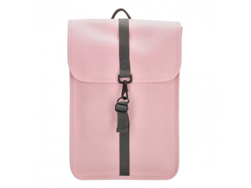 """Moderný batoh unisex Charm London Neville - 17,3 """"(43 cm) / 12L - ružový"""