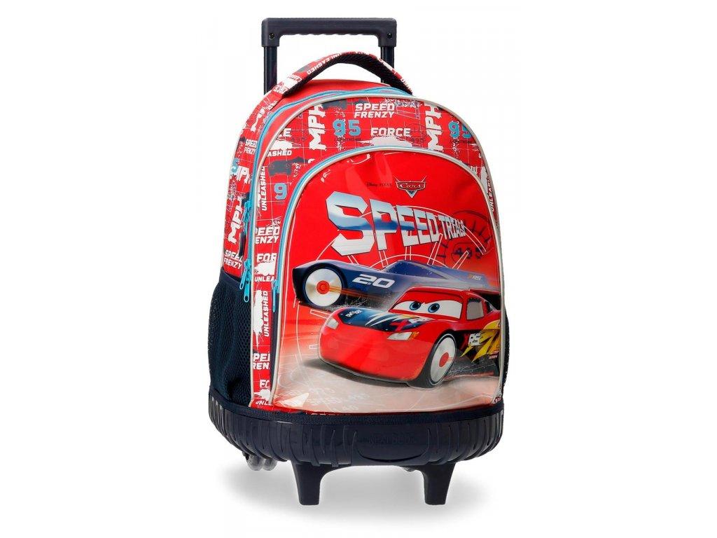 Školský batoh na kolieskach CARS SPEED TRAILS -29L